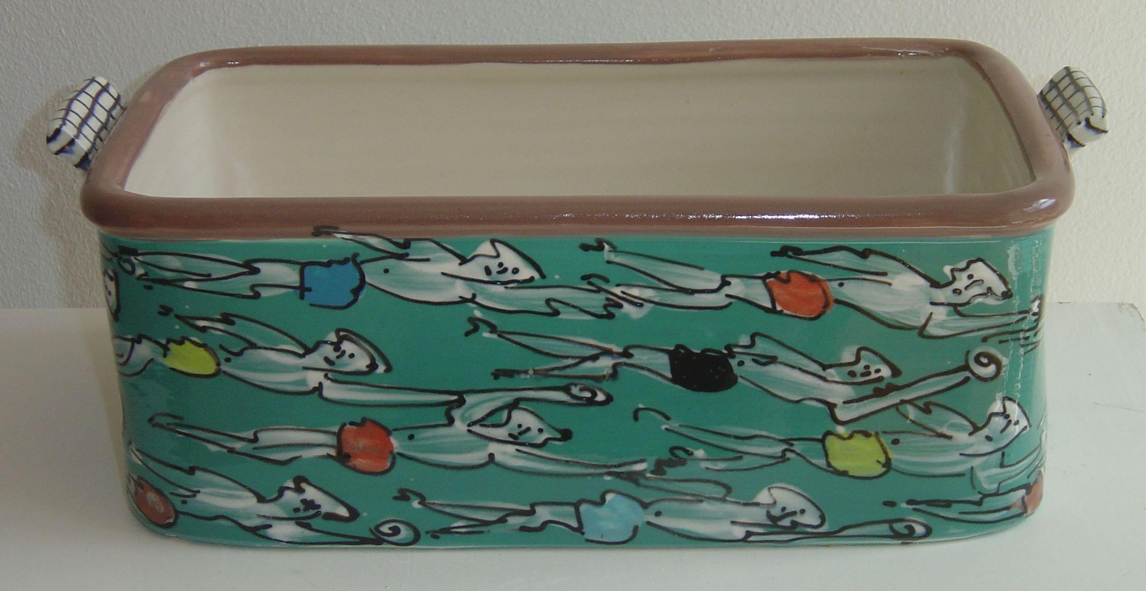 Basalt serviesgoed porselein ovenschaal zwemmers