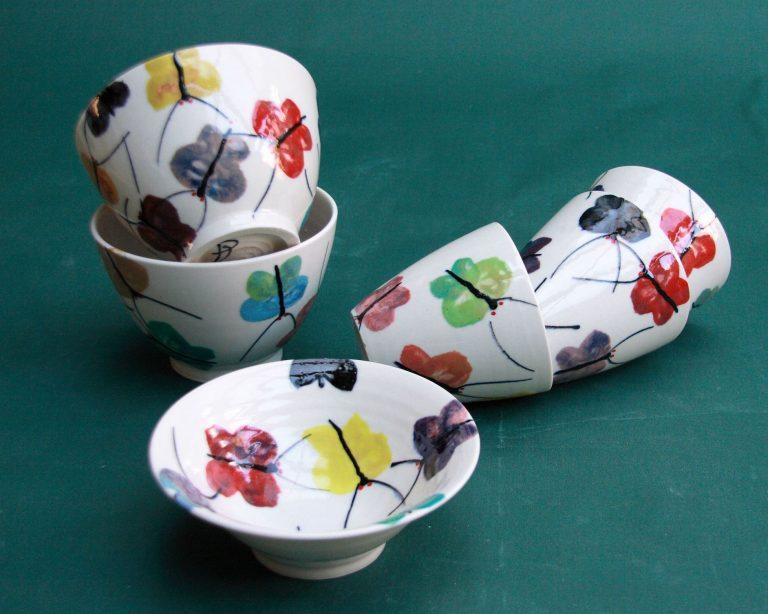 Basalt servies porselein fruittest Vlinders