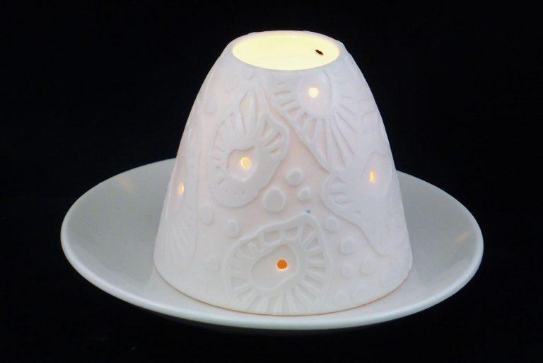 Basalt servies porselein lampje Nymphenburg