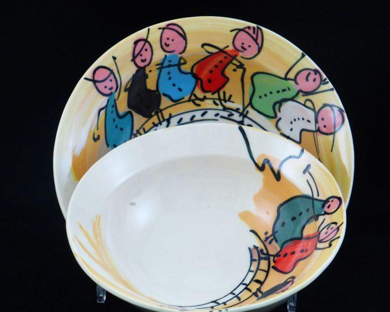 Basalt servies porselein kom Kinderen