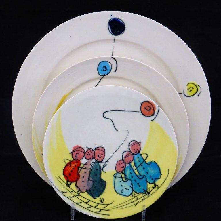 Basalt servies porselein borden Kinderen