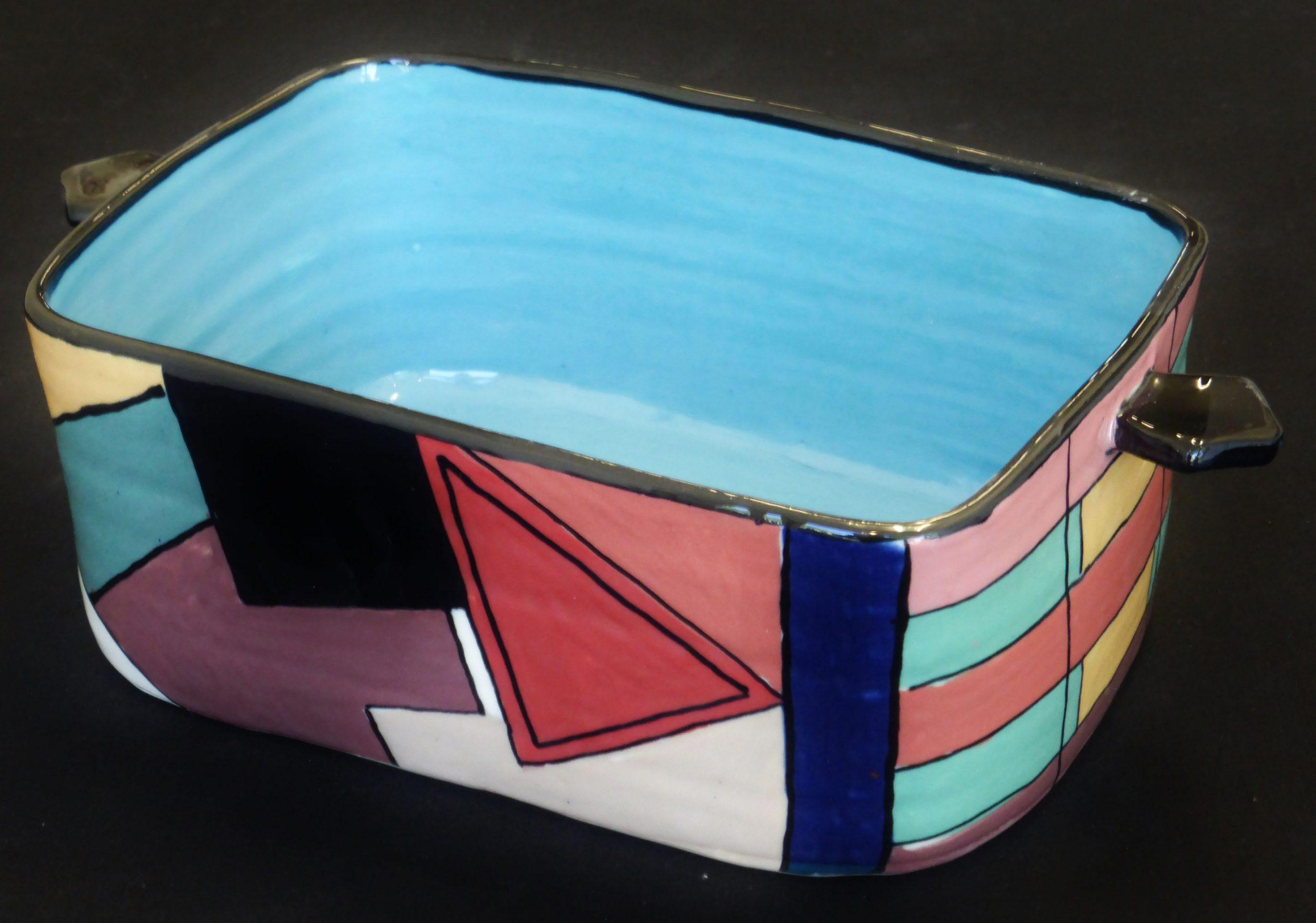 Basalt serviesgoed porselein ovenschaal geometrisch vrij