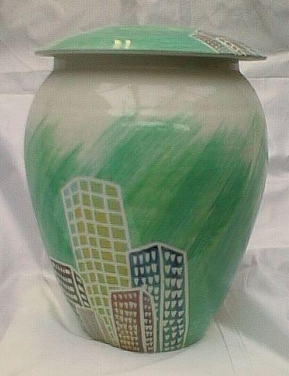 Basalt porselein overlijden urn Big City