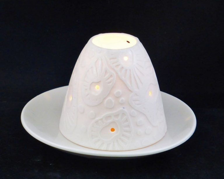 Basalt diversen porselein lampjes handgemaakt