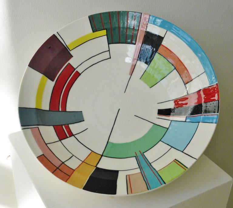 "Basalt vazen en schalen porselein Geometrie ""Mondriaan"""