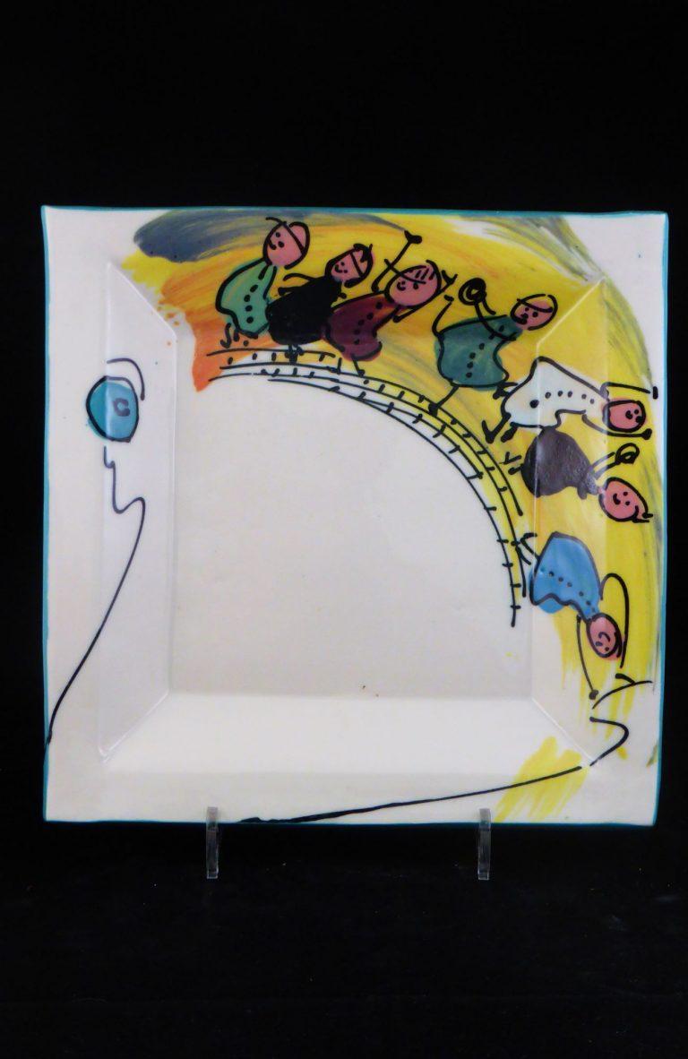 Basalt servies porselein rechthoekig bord Kinderen