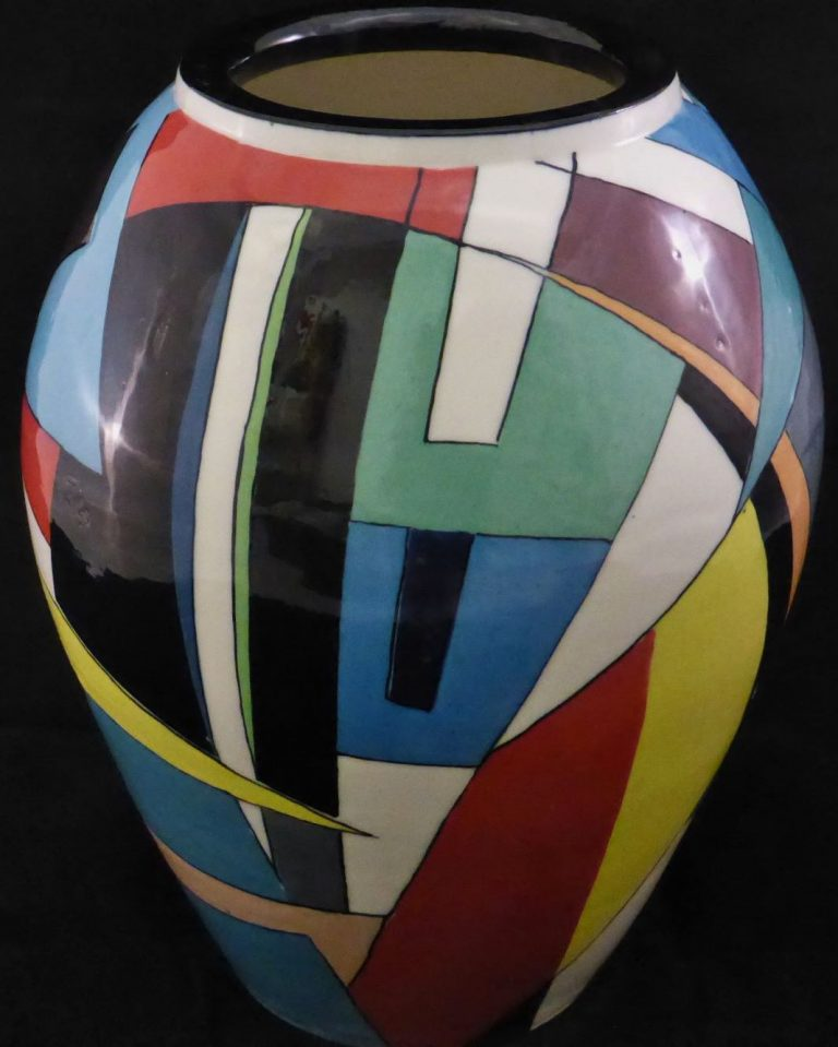 Basalt vazen en schalen porselein Geometrie vrij