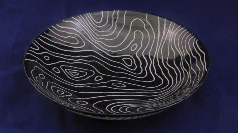 Basalt servies porselein Schaal Zwart-wit isotoop
