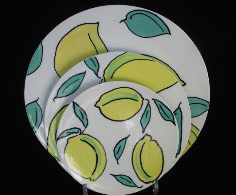 Basalt servies porselein borden Citroen