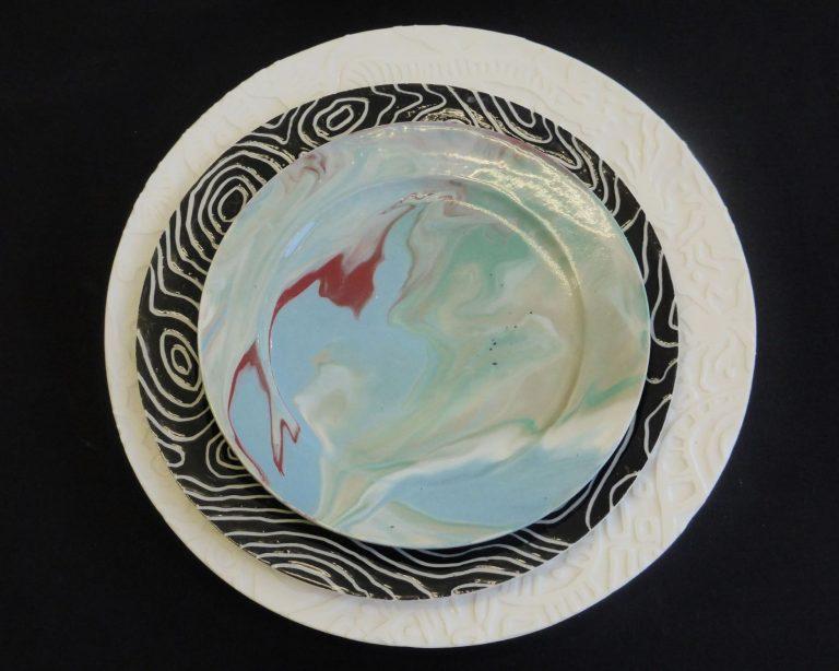 Basalt servies porselein Ontbijtbord Marmer
