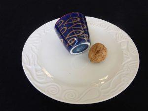 Basalt servies porselein espresso mokje Gouden vissen