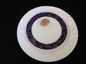 Basalt servies porselein gebaksbord Gouden vissen