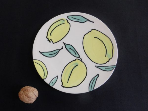 Basalt servies porselein gebaksbord Citroen