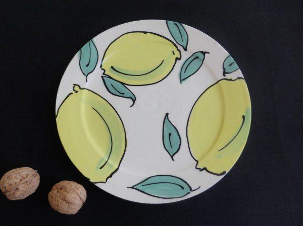 Basalt servies porselein Ontbijtbord Citroen