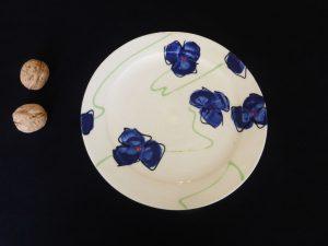 Basalt servies porselein ontbijtbord Blauwe bloem
