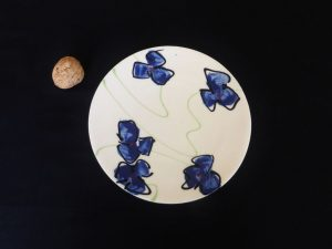Basalt servies porselein Gebaksbord Blauwe bloem