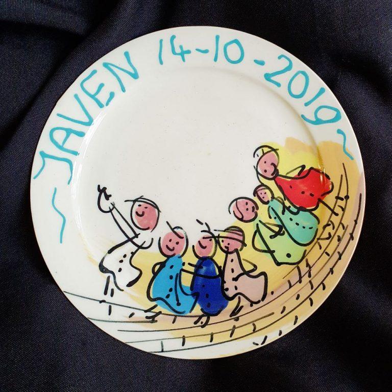 Basalt serviesgoed porselein geboorte bord