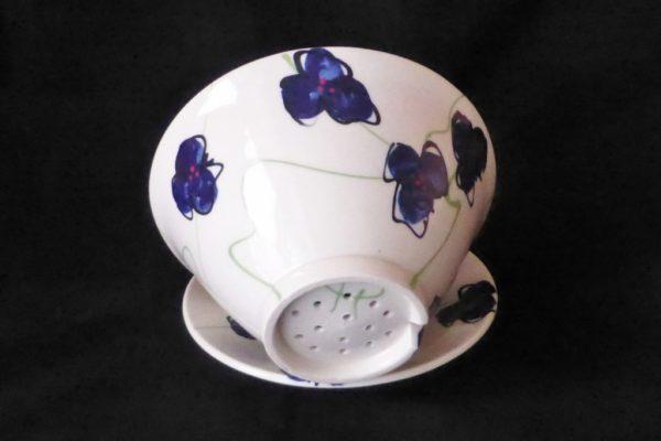 Basalt servies porselein fruittest Blauwe bloem 3