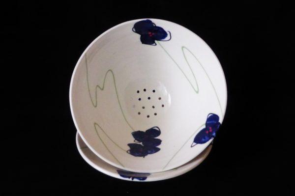 Basalt servies porselein fruittest Blauwe bloem 4